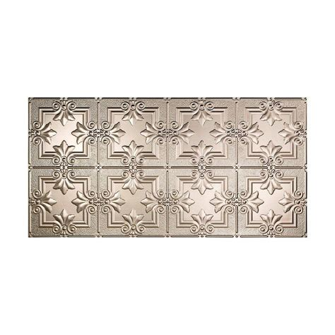 regalia brushed nickel ceiling fan fasade regalia 2 ft x 4 ft glue up ceiling tile in