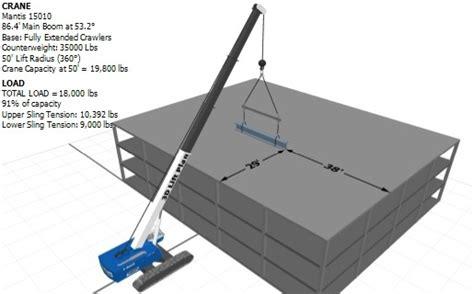 lift study template 3d lift plan crane lift planning software