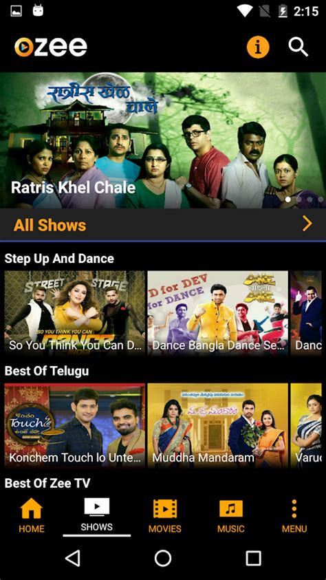 free tv shows for android ozee free tv shows android apps on play