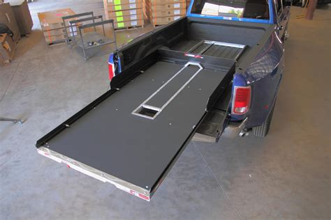 truck bed slide outs cargoglide truck bed slide 2200 lb capacity 75 slide 6ft