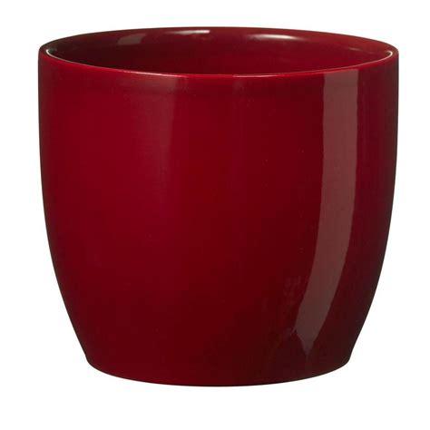 Ceramic Planters Home Depot by Sk Basel Bordeaux 9 In Dia Ceramic Planter 006900241582