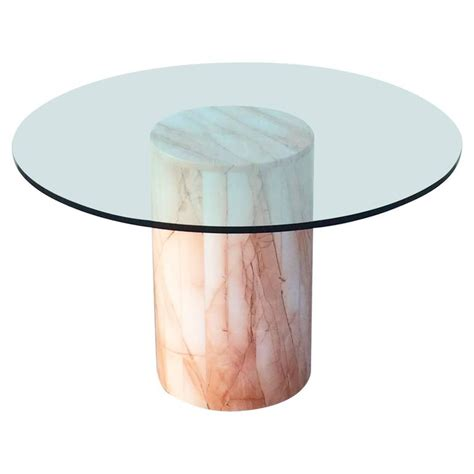 Marble And Glass Dining Table Italian Marble And Glass Dining Table At 1stdibs