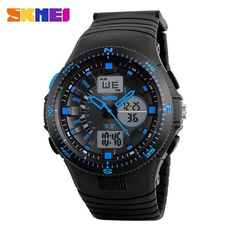 Skmei Jam Tangan Analog Digital Black Blue Ad1204 skmei jam tangan digital analog pria ad1198 black blue jakartanotebook
