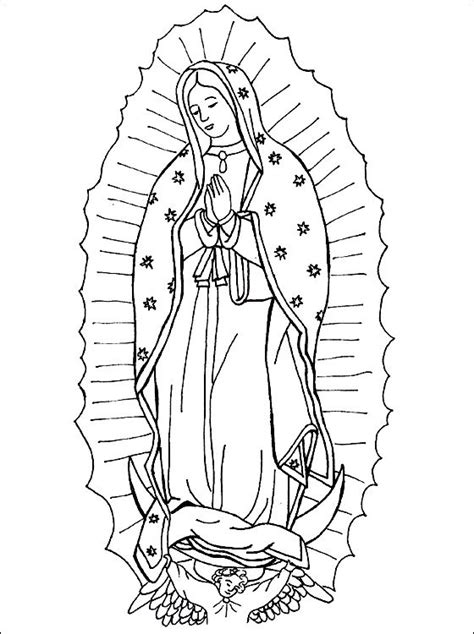 our lady of guadalupe coloring page our lady of