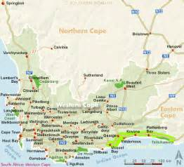 africa map cape of western cape map south africa