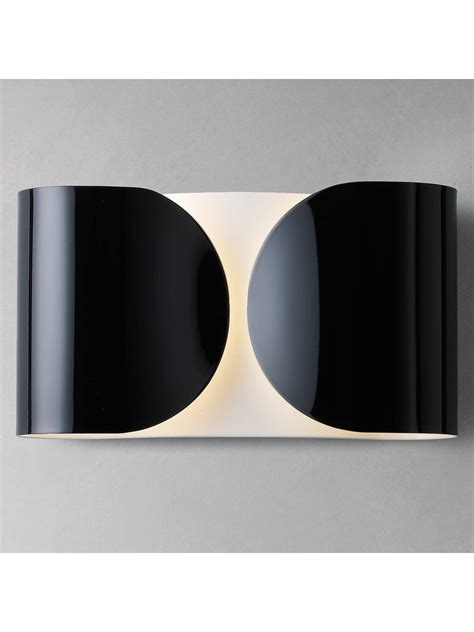 flos foglio wall light black at lewis partners
