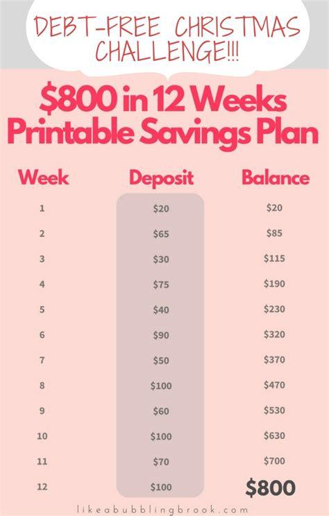 printable christmas savings plan debt free christmas printable 12 week christmas savings plan