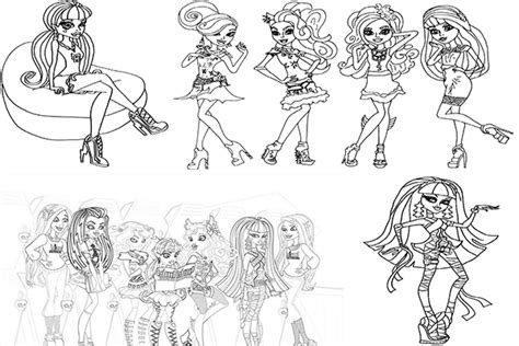 imagenes para pintar de monster high dibujos para colorear de monster high para imprimir gratis