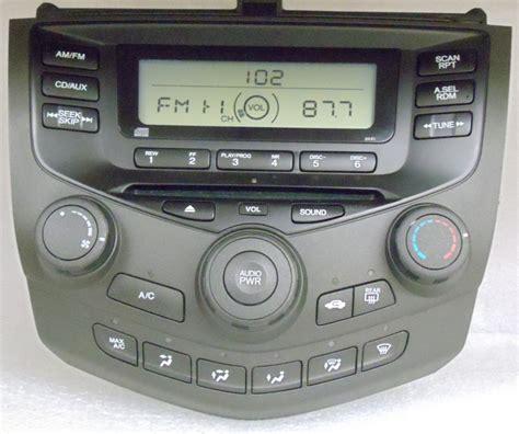 honda accord 2004 radio 2003 2004 2005 honda accord radio cd player aux 2aa0 ebay