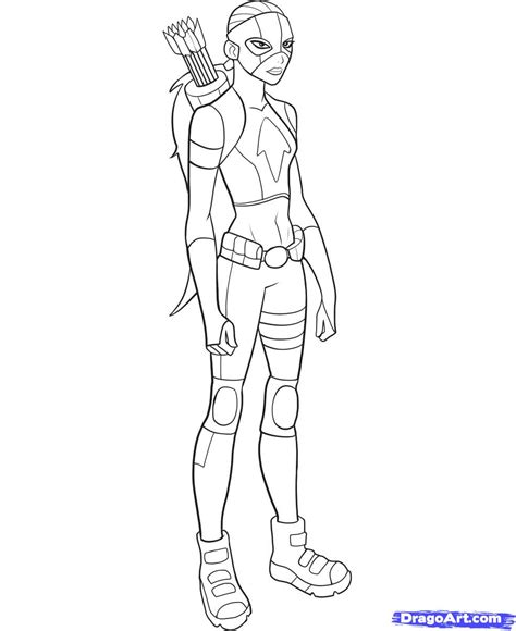 coloring pages justice justice drawings how to draw artemis step 11