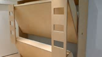 Built In Bunk Beds Clever Folding Bunk Bed Leaves So Much Extra Space For