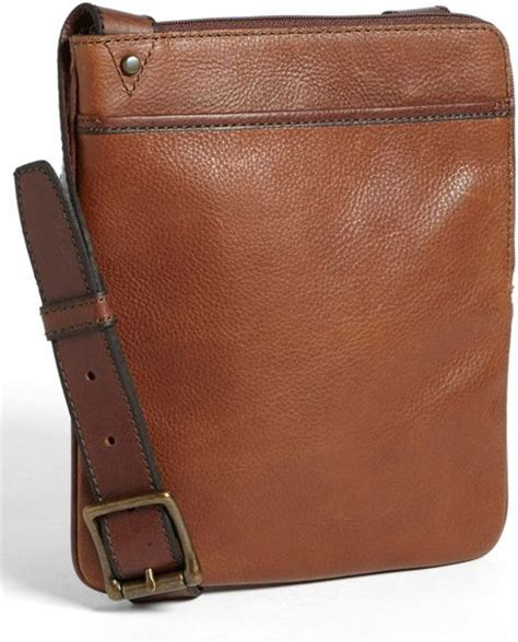 Fossil Satchel Cognac Brown fossil estate crossbody bag in brown for cognac lyst
