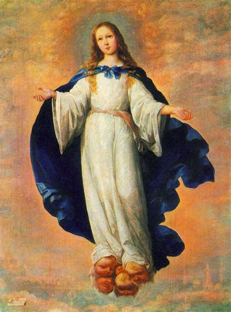immaculate hair grease zurbaran oil painting the immaculate conception