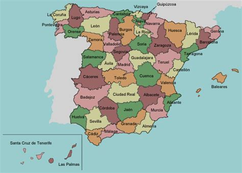 map of spain provinces test your geography knowledge spain provinces lizard point