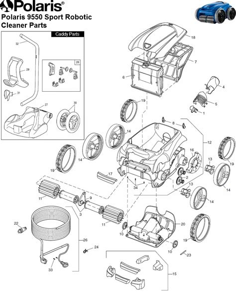 polaris parts diagram polaris polaris 9550 sport robotic parts diagram