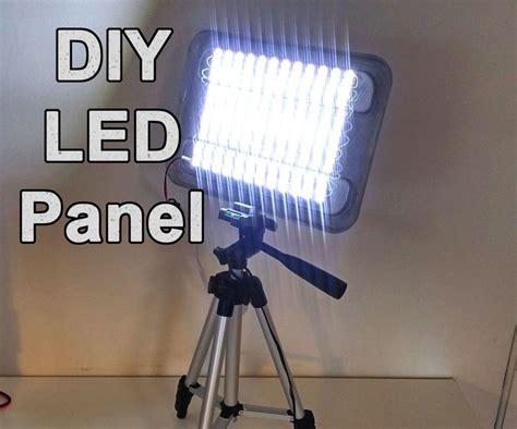 diy led video light diy powerful led panel video and work light work