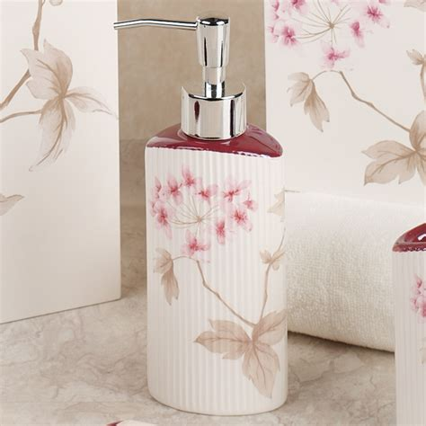 Japanese Cherry Blossom Home Decor Adorable Shower Curtain Cherries In Bloom Pretty Pink Cherry Blossom Bathroom Decor Home