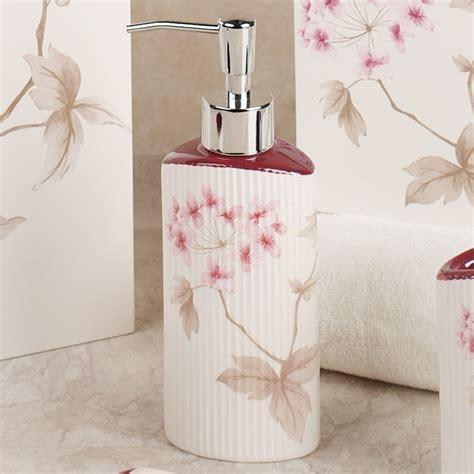 cherry blossom bathroom christina red cherry blossom bath accessories by croscill