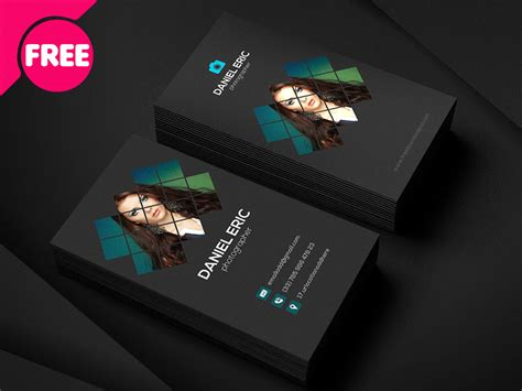 photographer id card template free psd best photographer business card template free