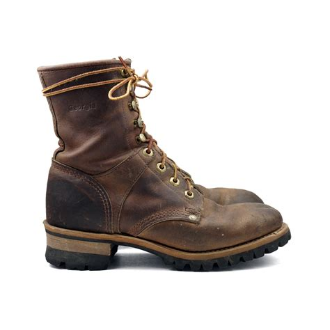 rustic s logger boots lace up hiker work boot in