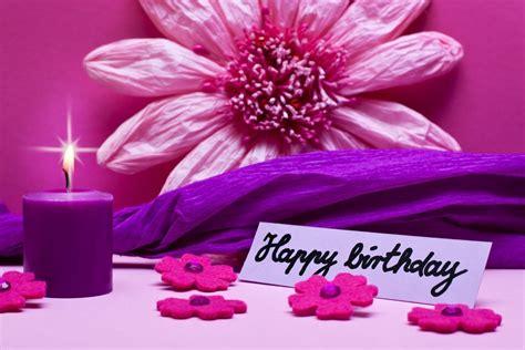 happy birthday flowers pink hd wallpaper