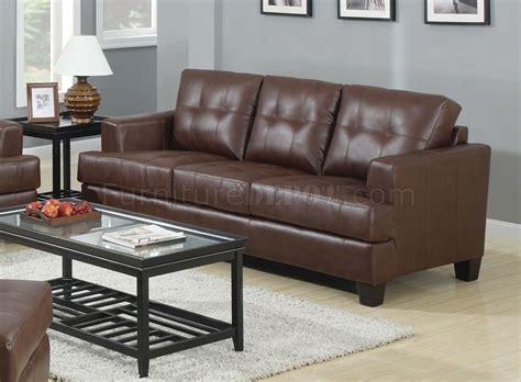 coaster samuel sofa samuel sofa loveseat set brown leatherette 504071 by coaster
