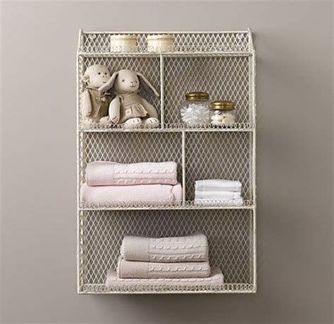 Cubby Organizer Wall Shelf by Vintage Wire Cubby Shelf Wall Storage Restoration Hardware Baby Child I Need This But I