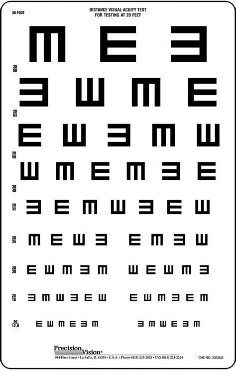 vision test translucent tumbling quot e quot vision test chart precision vision