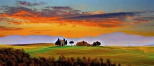 Tuscan Sunset Wallpapers Tuscan Sunset Stock Photos Pictures to pin on