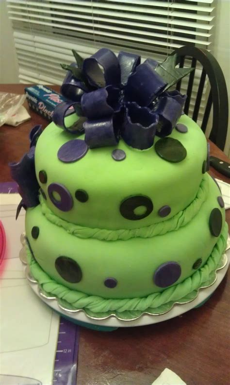 Purple And Green Baby Shower green and purple baby shower cake cakecentral