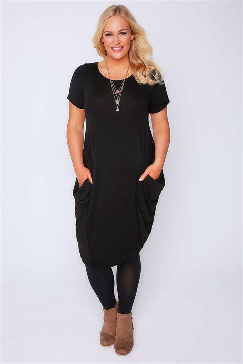 black drape dress black drape side jersey dress plus size 16 to 32