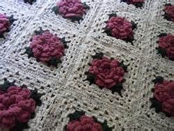 Crochet patterns how to crochet a rose granny square afghan