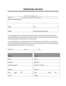 used car bill of sale form   auto bill of sale template auto