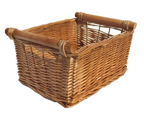 Fireplace Wood Basket by Large Wicker Log Basket Storage Logs Firewood Fireplace