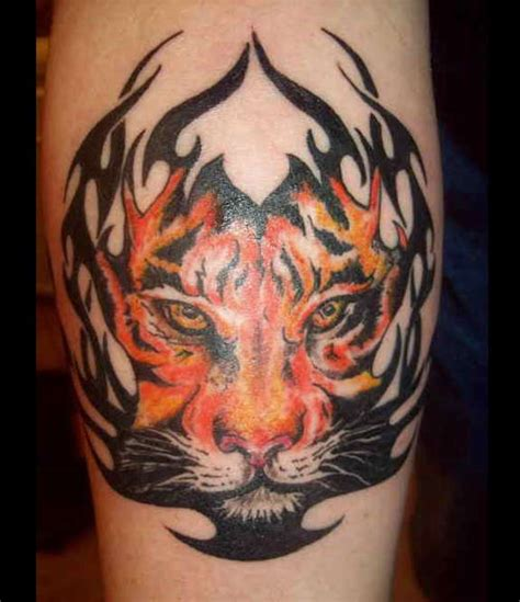 tribal tiger head tattoo arm tattoos askideas