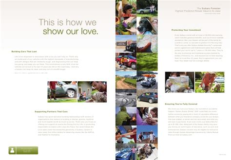 subaru added security maintenance agreement subaru forester brochure 2010
