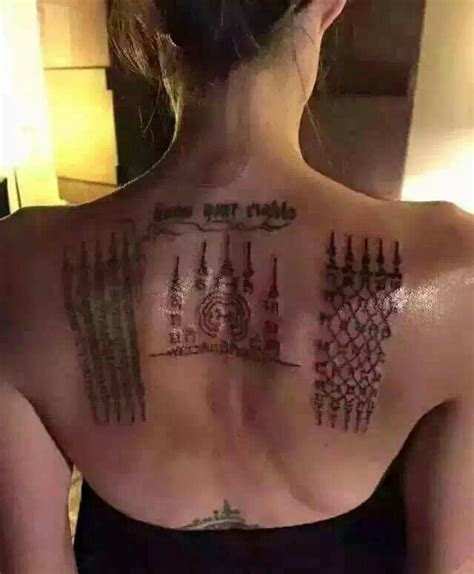 angelina jolie gets new khmer tattoos in siem reap