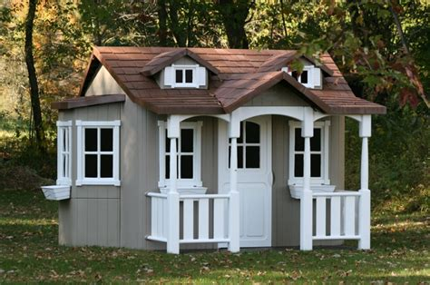 The Cottage Thinking Outside by Wooden Playhouse Wooden Playhouses