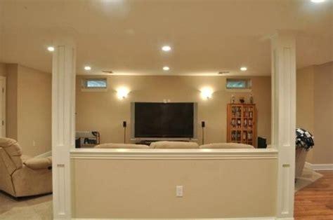 decorative furniture veneer crossword half wall with column basement half walls and design