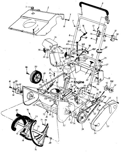 craftsman snowblower parts diagram craftsman sears craftsman 20 quot snow thrower parts model