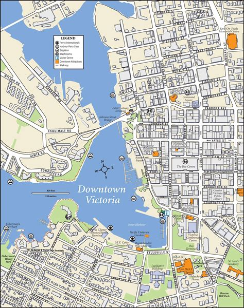printable maps victoria victoria downtown map