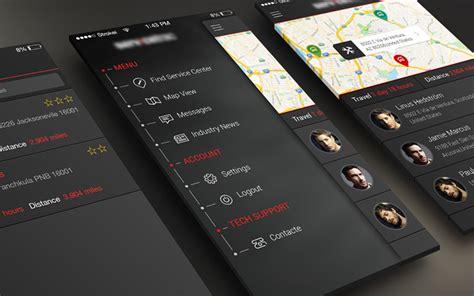 design by humans app 34 dark iphone app ui designs for inspiration