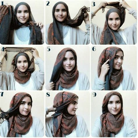 tutorial hijab pashmina tie dye how to tie a modern hijab in trendy way hijabiworld