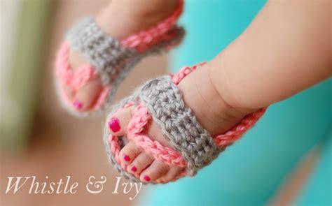how to crochet baby sandals how to make crochet baby flip flop sandals crochet