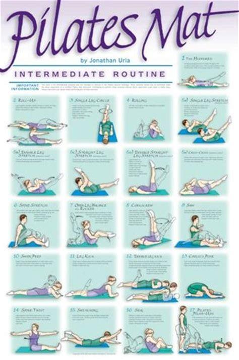 pilates mat exercises chart pilates mat workout