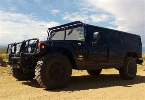 armored hummer purchase used 1997 armored black h1 hummer wagon in