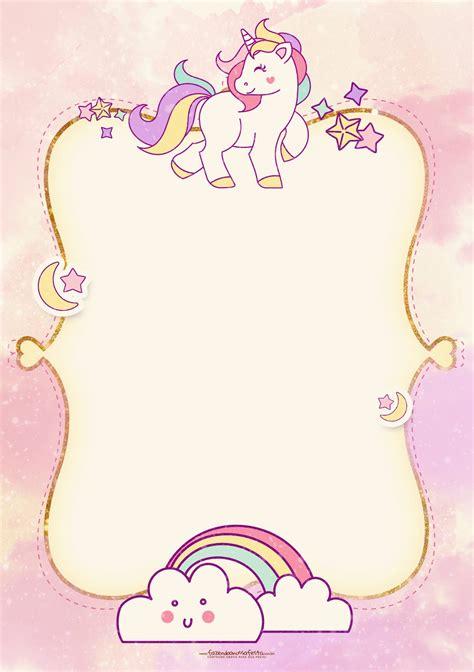 free printable unicorn stationery fiesta de unicornios invitaciones para imprimir gratis