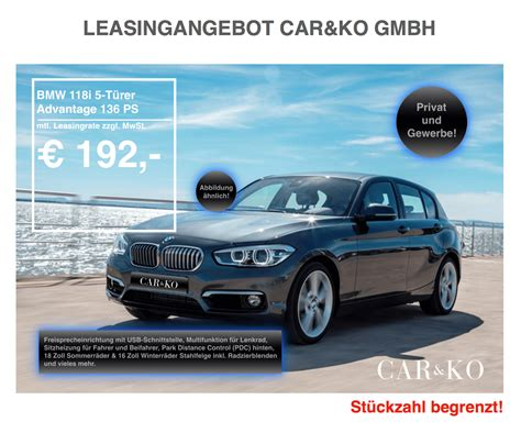Bmw 1er Leasing 12 Monate by Bmw 118i Leasing F 252 R 229 Euro Im Monat Brutto