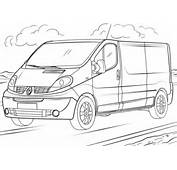 Renault Trafic Coloring Page  Free Printable Pages