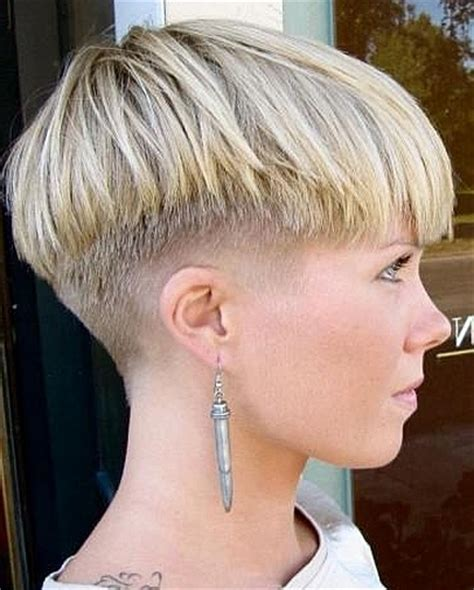 womens haircut with short sides short hairstyles with shaved sides women picture of